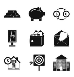 Promiser icons set simple style vector