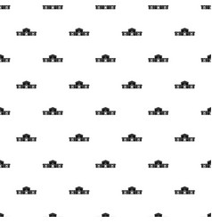 Railway station building pattern vector