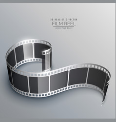 Realistic 3d film strip background vector