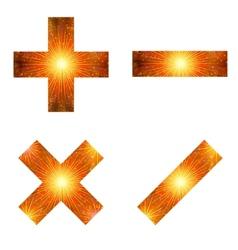 Set of mathematical signs firework vector