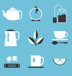 tea preparation icon vector image vector image
