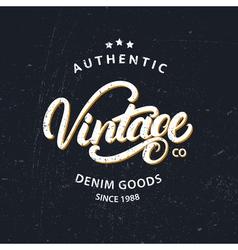 Vintage hand written lettering for label design vector image vector image