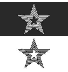 Star logo abstract hipster monogram set thin line vector image