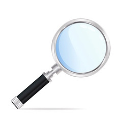 Magnifying silver glass vector