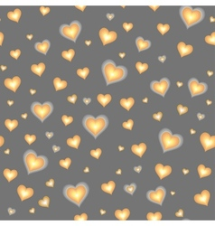 Seamless background with cartoon hearts vector