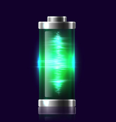 Transparent charged batteries with electric charge vector