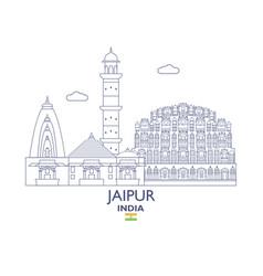 Jaipur city skyline vector