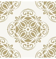 Damask seamless pattern orient golden vector