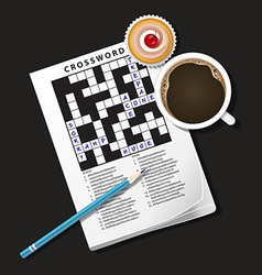 Crossword Coffee2 vector image
