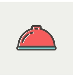 Food serving tray thin line icon vector