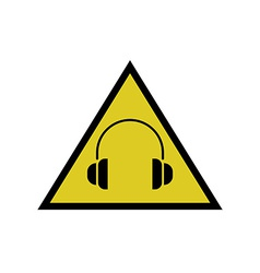High noise levels warning sign headphones icon vector