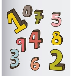 Numbers icons vector