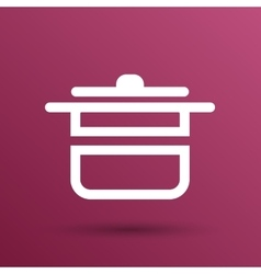 Saucepan food menu kitchen soup pot design vector