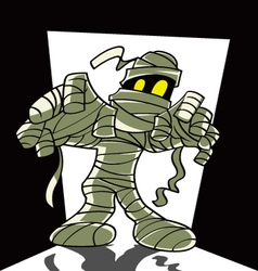 Cartoon spooky mummy vector