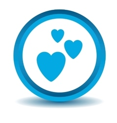 Love icon blue 3d vector