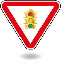 Sign light traffic vector