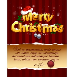3d christmas lettering vector