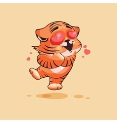 Tiger cub in love vector