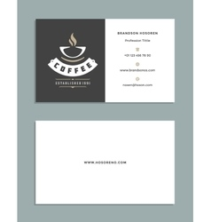 Business card design and retro style logo template vector