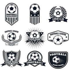 Set of the football labels emblems and design vector image