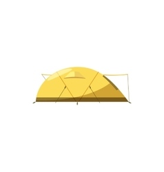 Yellow tent icon cartoon style vector