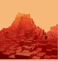 Abstract landscape with colored vector