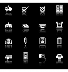 applications icon set vector image vector image