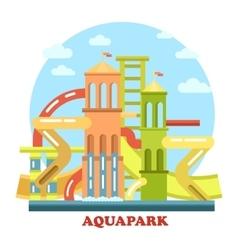 Aquapark outdoor exterior view panorama vector