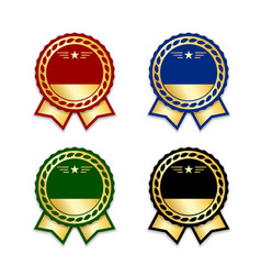 award ribbon the best set vector image vector image