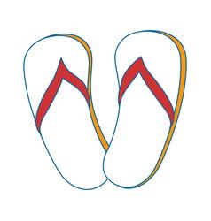 beach sandals icon vector image