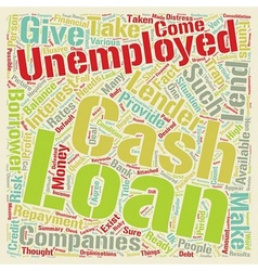 Cash loans for the unemployed ready money in vector
