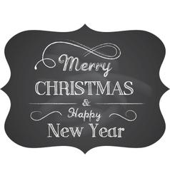 Chalkboard christmas vector