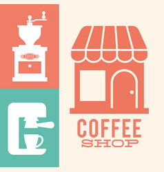 Coffee shop grinder machine image vector