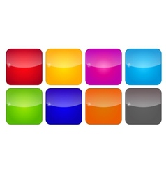 Colored Application Icons for Mobile Phones and vector image