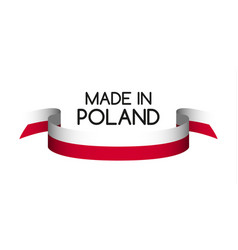 Colored ribbon in the colors of polish vector