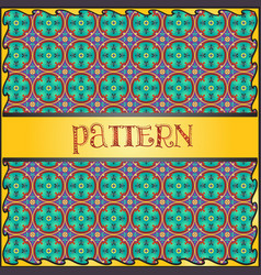 decorative geometric colorful pattern background vector image vector image