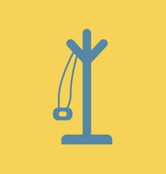Flat icon coat hanger vector