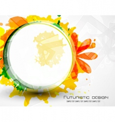 futuristic design grunge vector image
