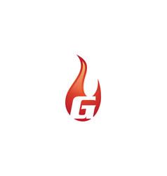 g letter flame logo vector image vector image