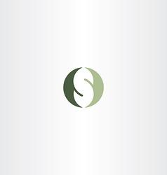 green logotype s letter logo s design vector image vector image