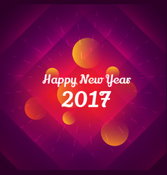 Happy new year 2017 celebration design vector