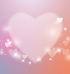 Love Abstract Background with Hearts and Lights vector image