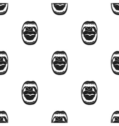 Mouth icon in black style isolated on white vector