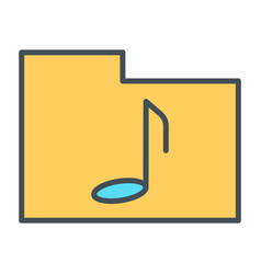 music folder thin line icon pictogram vector image vector image