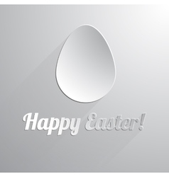 One paper happy easter egg vector image vector image