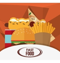 Pizza and fast food design vector