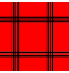 Red tartan seamless pattern vector image