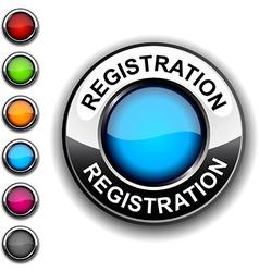 Registration button vector