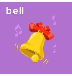 Ringing golden bell vector