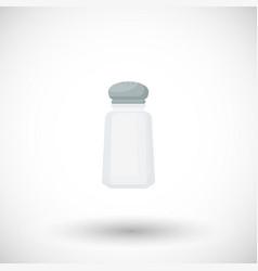 salt shaker flat icon vector image